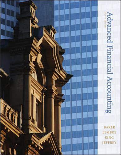 9780073526911: Advanced Financial Accounting, 8th Edition