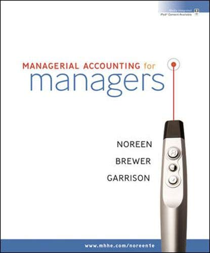 9780073526973: Managerial Accounting for Managers