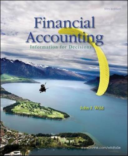 9780073527017: Financial Accounting: Information for Decisions