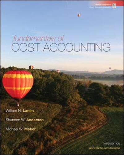 9780073527116: Fundamentals of Cost Accounting