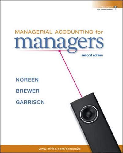 9780073527130: Managerial Accounting for Managers