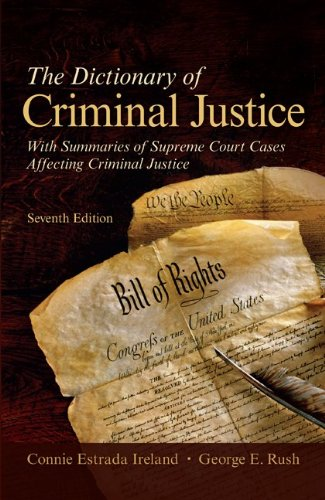 9780073527802: The Dictionary of Criminal Justice (Textbook)