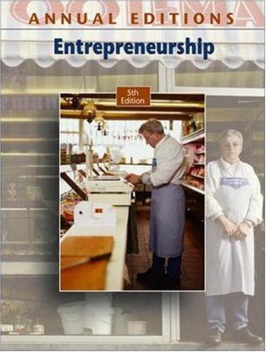 9780073528359: Annual Editions: Entrepreneurship, 5/e