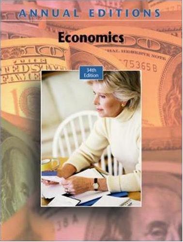 9780073528434: Annual Editions: Economics, 34/e