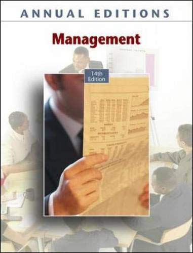 9780073528441: Annual Editions: Management, 14/e