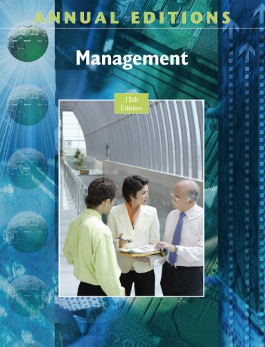 9780073528502: Annual Editions: Management, 15/e