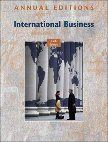 9780073528519: Annual Editions: International Business, 15/e