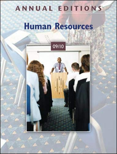 9780073528533: Annual Editions: Human Resources 09/10