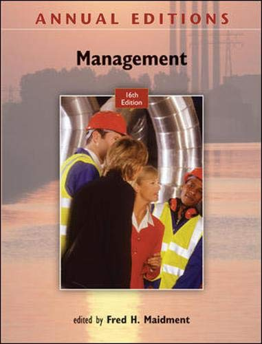 9780073528632: Annual Editions: Management, 16/e