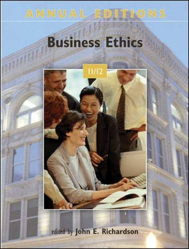 9780073528656: Annual Editions: Business Ethics 11/12
