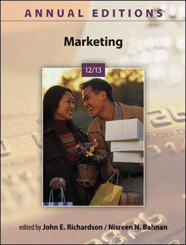 9780073528700: Annual Editions: Marketing 12/13