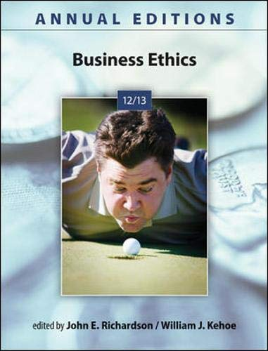 9780073528724: Annual Editions: Business Ethics 12/13