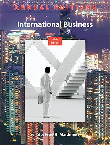 9780073528755: Annual Editions: International Business, 17/e