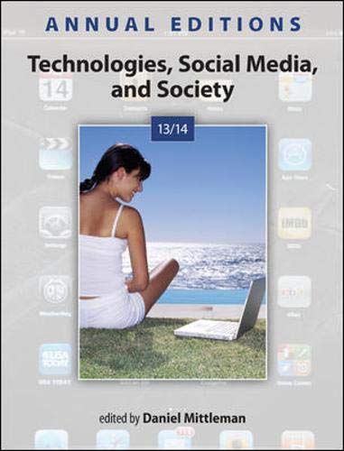9780073528779: Annual Editions: Technologies, Social Media, and Society 13/14