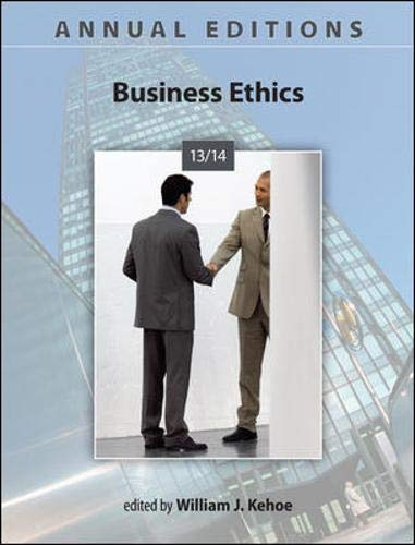 9780073528793: Annual Editions: Business Ethics 13/14