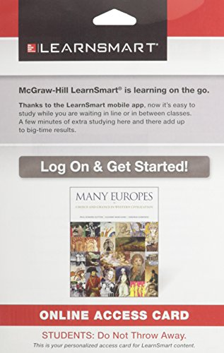 9780073529066: LearnSmart Access Card for Many Europes: Choice and Chance in Western Civilization