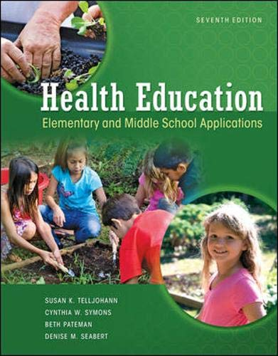 9780073529684: Health Education: Elementary and Middle School Applications