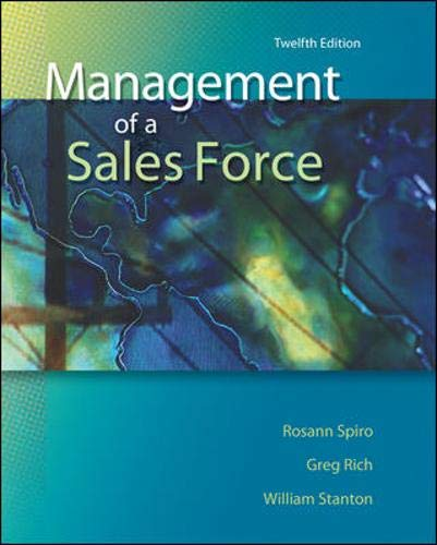 9780073529776: Management of a Sales Force