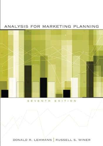9780073529844: Analysis for Marketing Planning