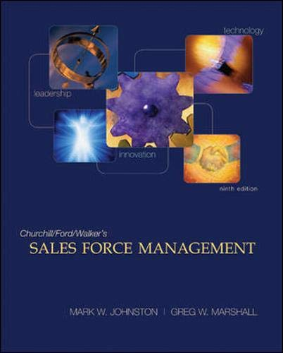 9780073529875: Sales Force Management