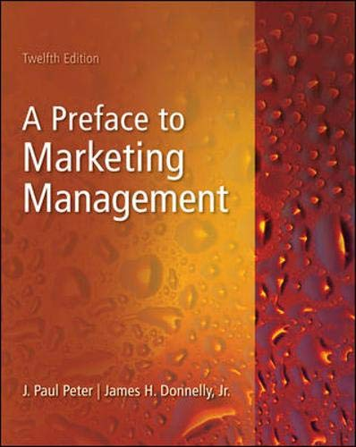 9780073529967: A Preface To Marketing Management