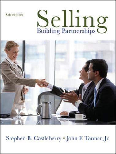 9780073530017: Selling: Building Partnerships