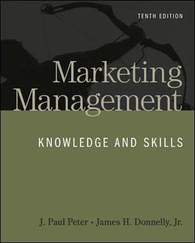 9780073530055: Marketing Management: Knowledge and Skills, 10th Edition