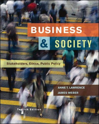 9780073530178: Business and Society: Stakeholders, Ethics, Public Policy