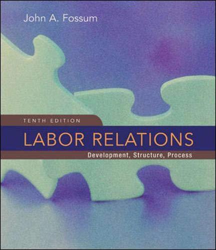 9780073530239: Labor Relations