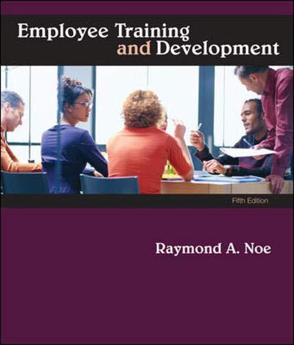 9780073530345: Employee Training & Development