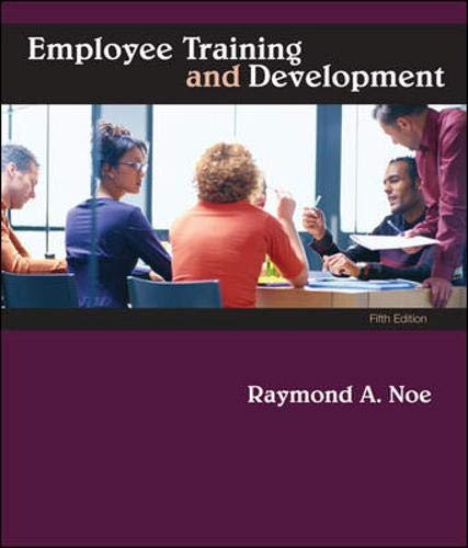 9780073530345: Employee Training & Development