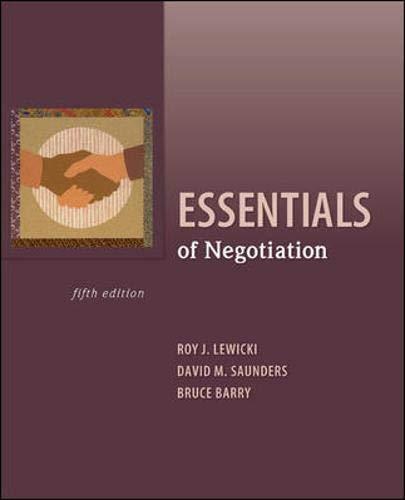 9780073530369: Essentials of Negotiation