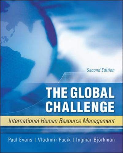 9780073530376: The Global Challenge: International Human Resource Management