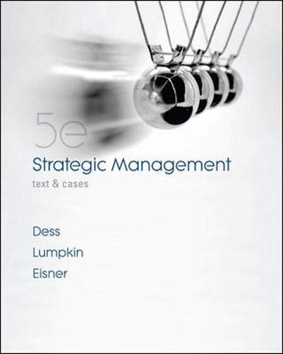 9780073530413: Strategic Management: Text and Cases