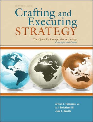 9780073530420: Crafting & Executing Strategy: The Quest for Competitive Advantage:  Concepts and Cases