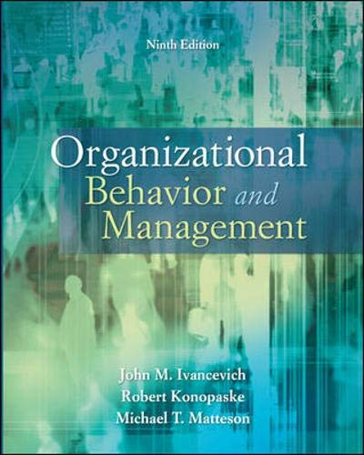 9780073530505: Organizational Behavior and Management