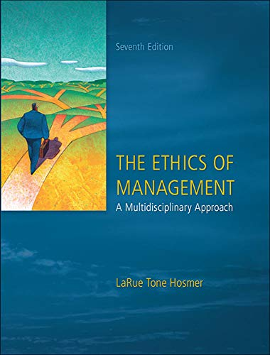 9780073530543: The Ethics of Management