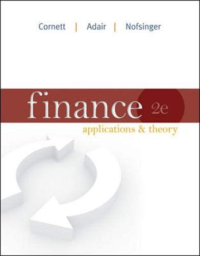 9780073530673: Finance: Applications and Theory (Mcgraw-Hill/Irwin Series in Finance, Insurance and Real Estate)