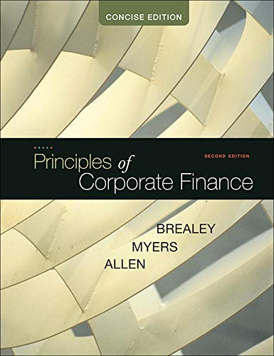 9780073530741: Principles of Corporate Finance, Concise (McGraw-Hill/Irwin Series in Finance, Insurance and Real Estate (Hardcover))
