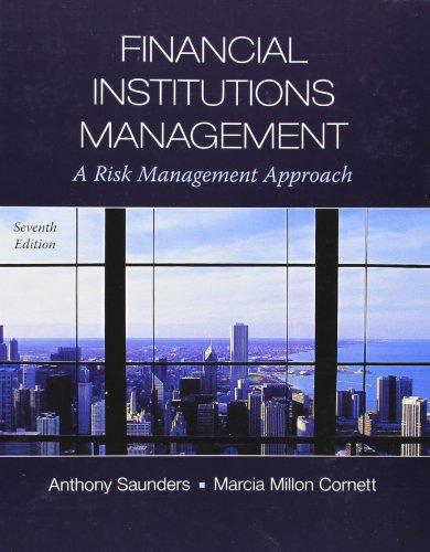 Financial Institutions Management: A Risk Management Approach: Cornett, Marcia, Saunders,
