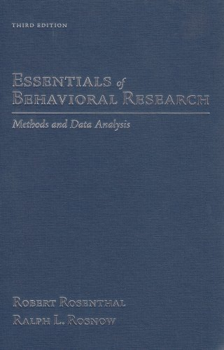 9780073531960: Essentials of Behavioral Research: Methods and Data Analysis