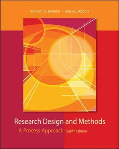 9780073532028: Research Design and Methods: A Process Approach
