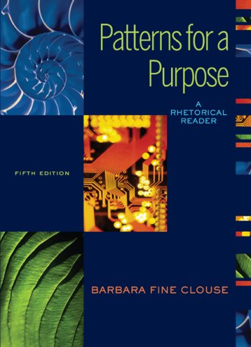 9780073533155: Patterns for A Purpose: A Rhetorical Reader (book alone)
