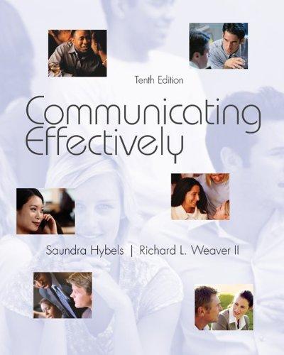 9780073534336: Communicating Effectively