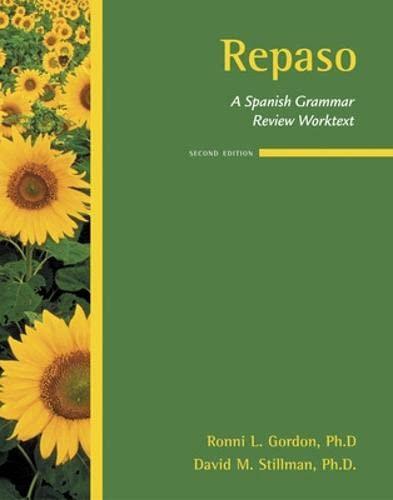 9780073534367: Repaso: A Spanish Grammar Review Worktext