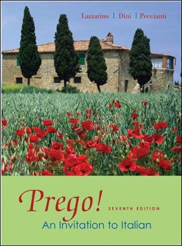 9780073535265: Prego! An Invitation to Italian