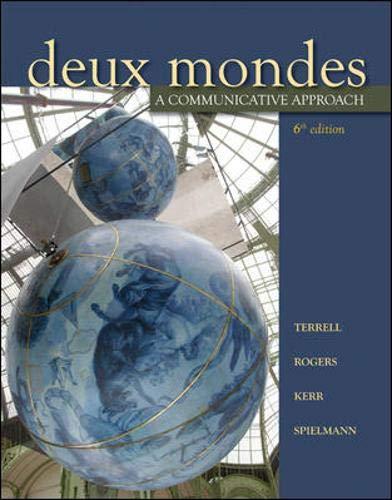 9780073535449: Deux mondes: A communicative approach, Sixth Student Edition