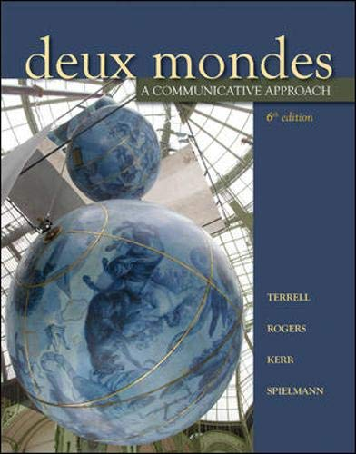 9780073535449: Deux mondes: A communicative approach, Sixth Student Edition