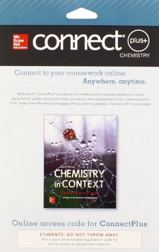 9780073535463: Connect 1-Semester Access Card for Chemistry in Context