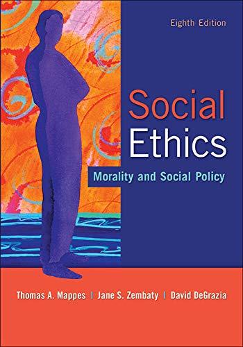 9780073535883: Social Ethics: Morality and Social Policy